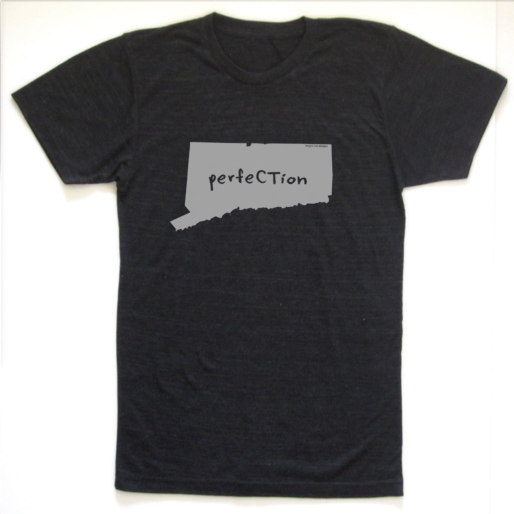 Connecticut : perfeCTion unisex tri-blend tee, Unisex Apparel - Megan Lee Designs