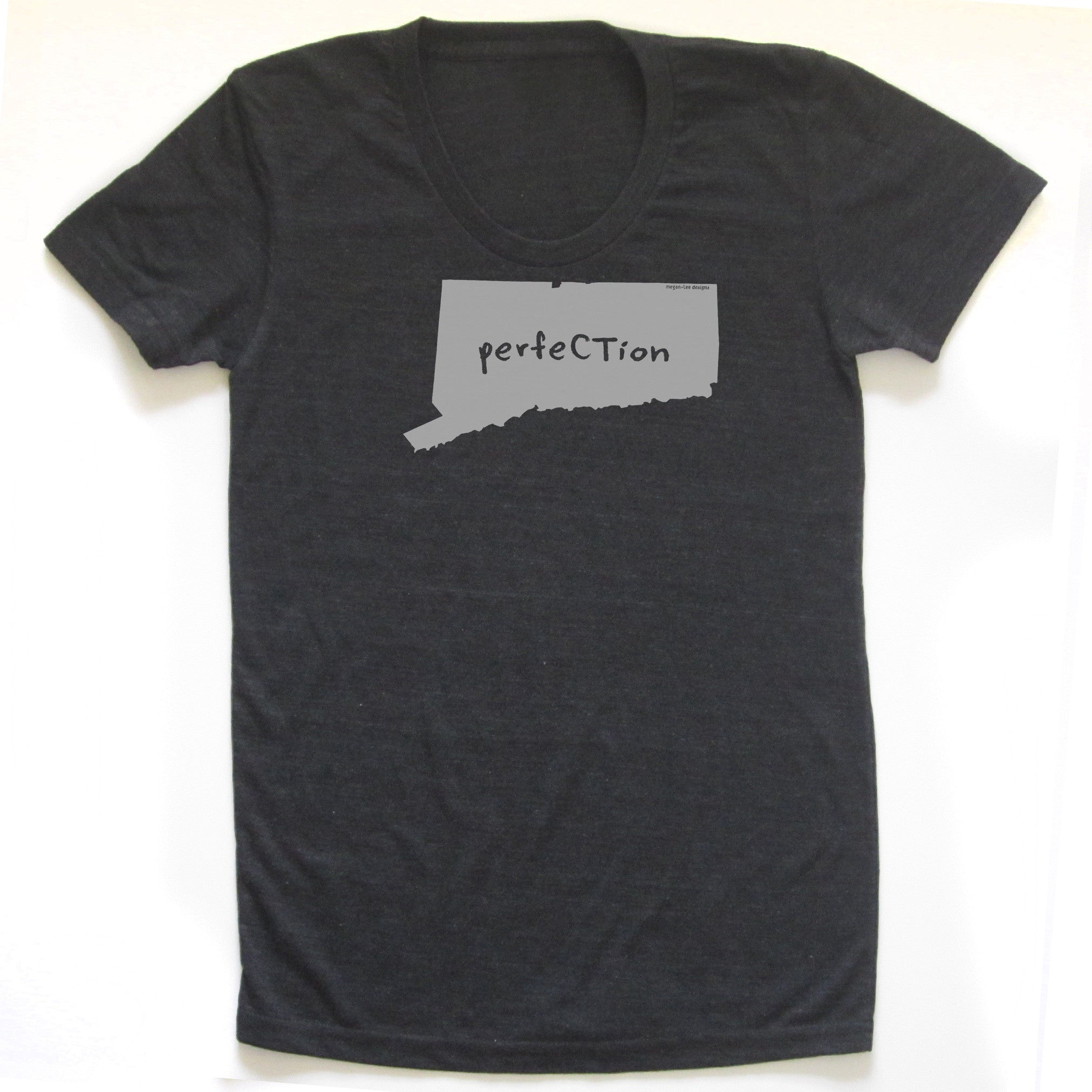 Connecticut : perfeCTion women tri-blend tee, Women's Apparel - Megan Lee Designs