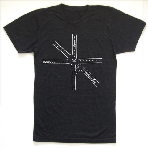 Crotch : Damen/Milwaukee/North Intersection unisex tri-blend tee, Unisex Apparel - Megan Lee Designs