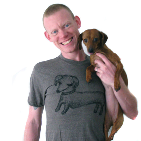 Dachshund : unisex tri-blend tee, Unisex Apparel - Megan Lee Designs