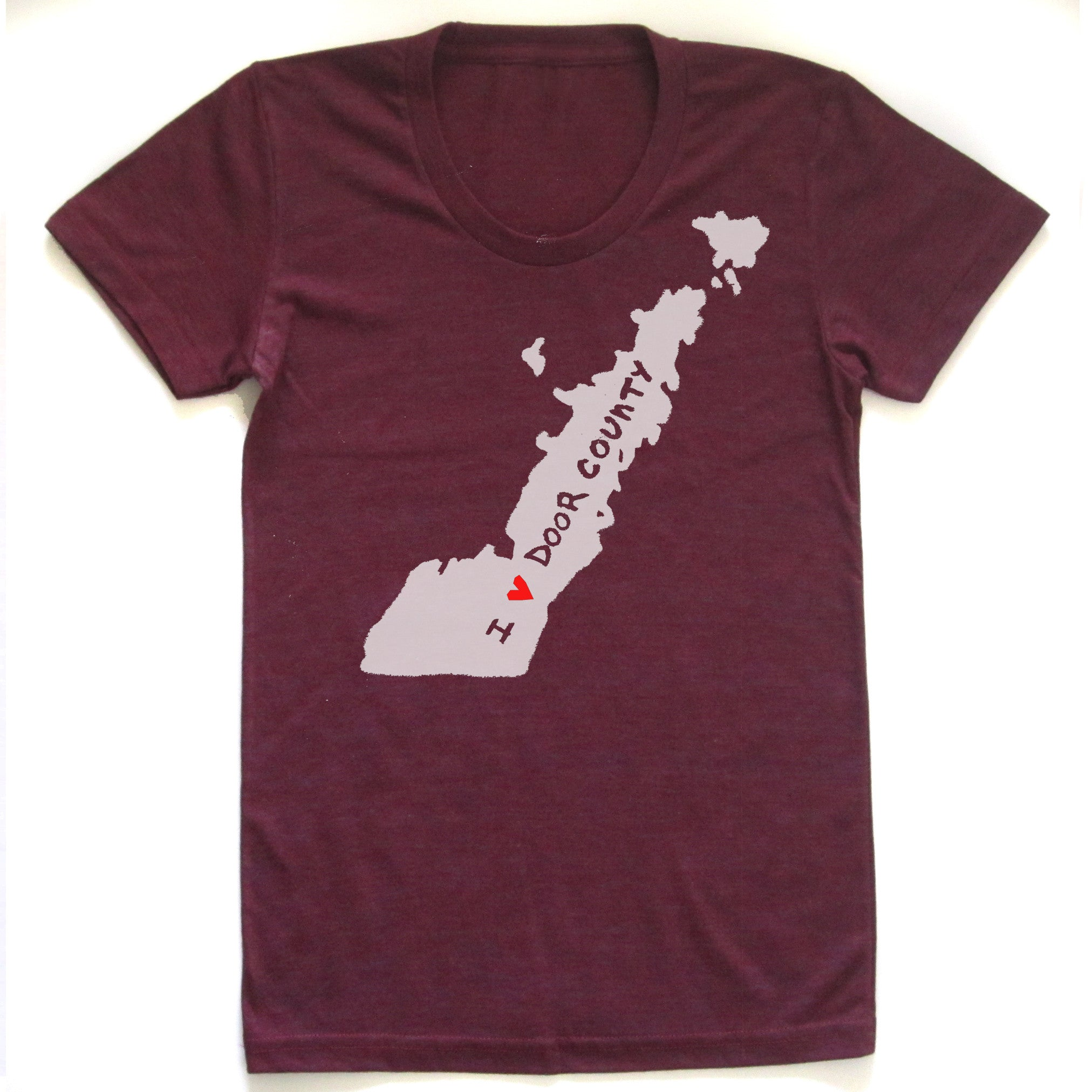 Door County : women tri-blend t-shirt - Megan Lee Designs