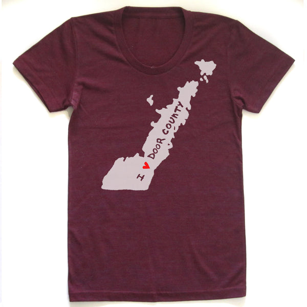 Door County : women tri-blend t-shirt