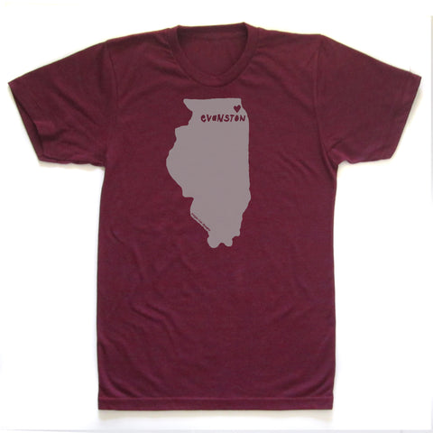 Evanston Love : unisex tri-blend tee - Megan Lee Designs