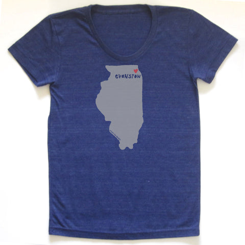 Evanston Love : women tri-blend tee - Megan Lee Designs