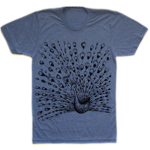 Fanned peacock : unisex tri-blend tee, Unisex Apparel - Megan Lee Designs