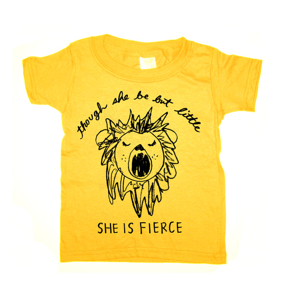 She is fierce : kids tee