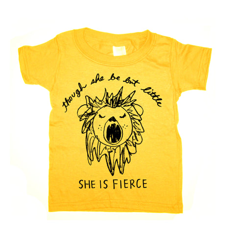 Fierce Lion : kids t-shirt