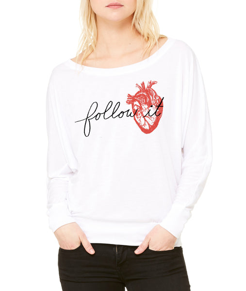 Follow It : Women's Flowy Long-sleeve Top, Women's Apparel - Megan Lee Designs