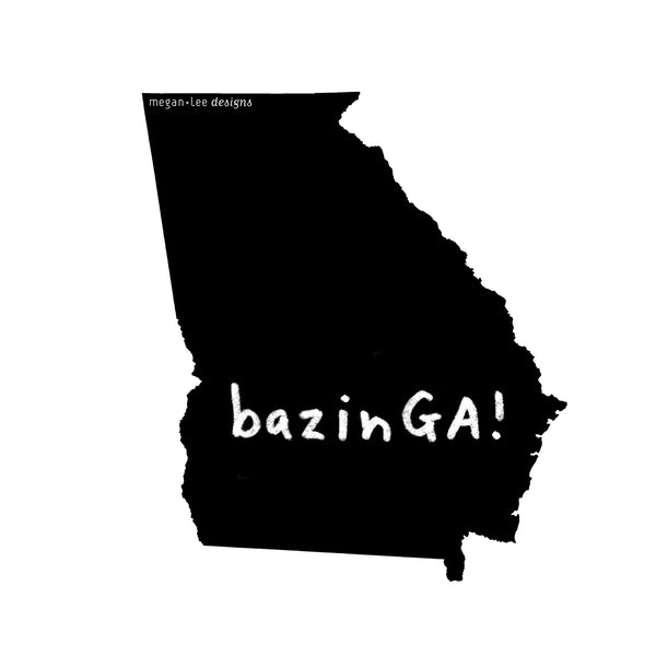 Georgia : bazinGA unisex tri-blend tee, Unisex Apparel - Megan Lee Designs