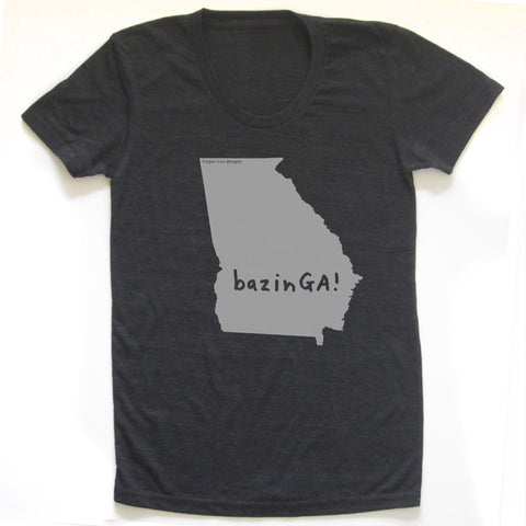 Georgia : bazinGA women tri-blend tee, Women's Apparel - Megan Lee Designs