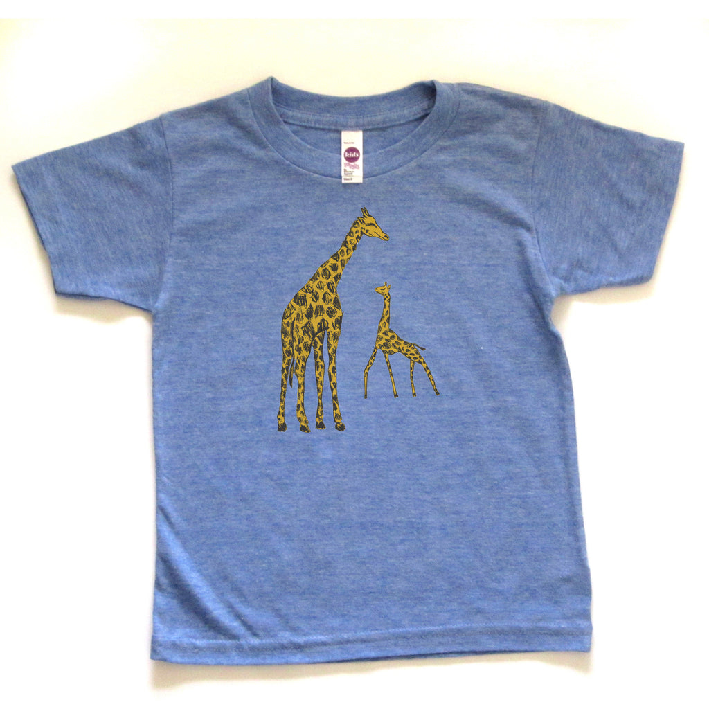 Giraffes : kids tri-blend tee - Megan Lee Designs