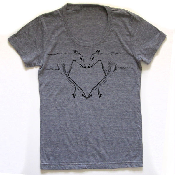 Greyhounds : women tri-blend tee, Women's Apparel - Megan Lee Designs