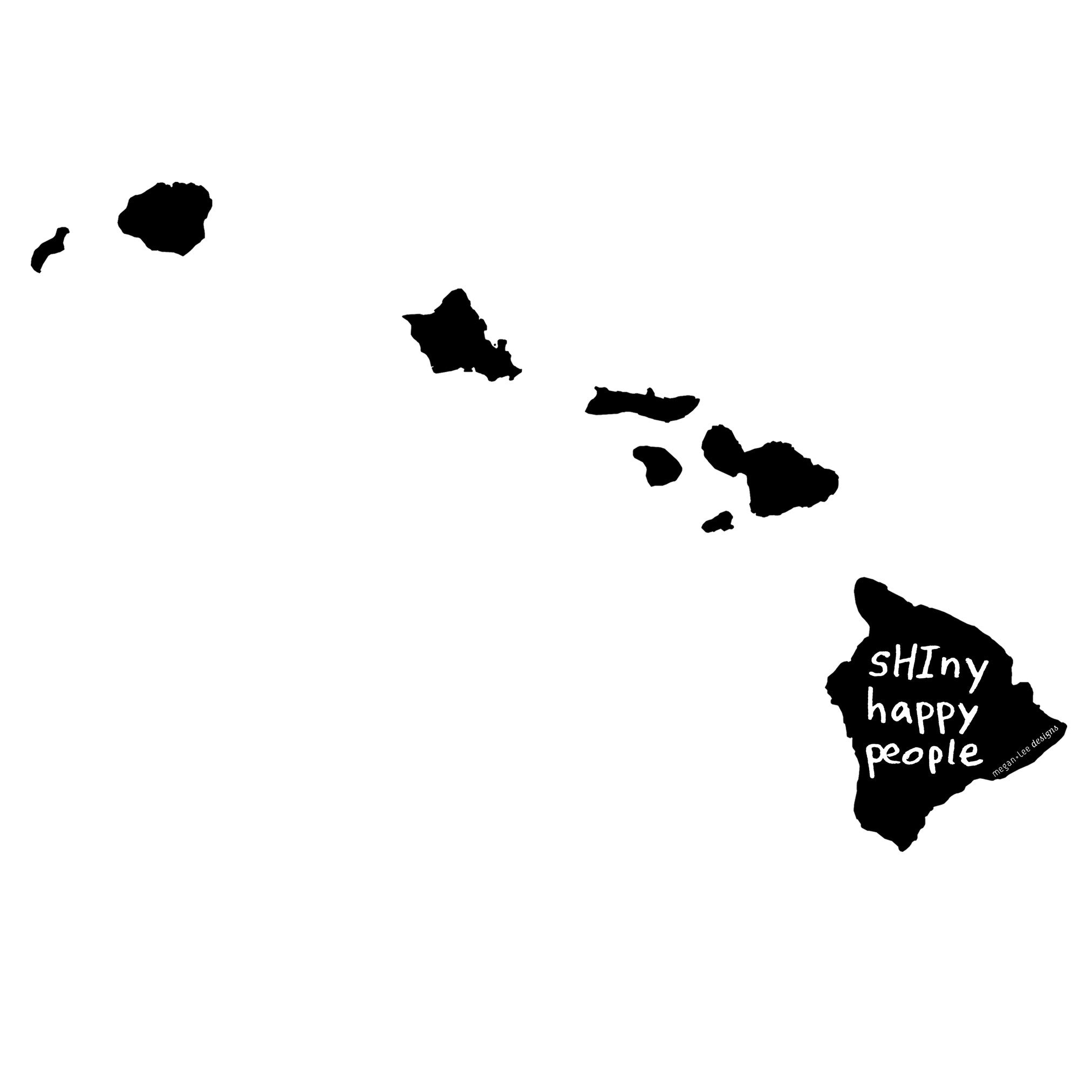 Hawaii : sHIny happy people unisex tri-blend tee, Unisex Apparel - Megan Lee Designs