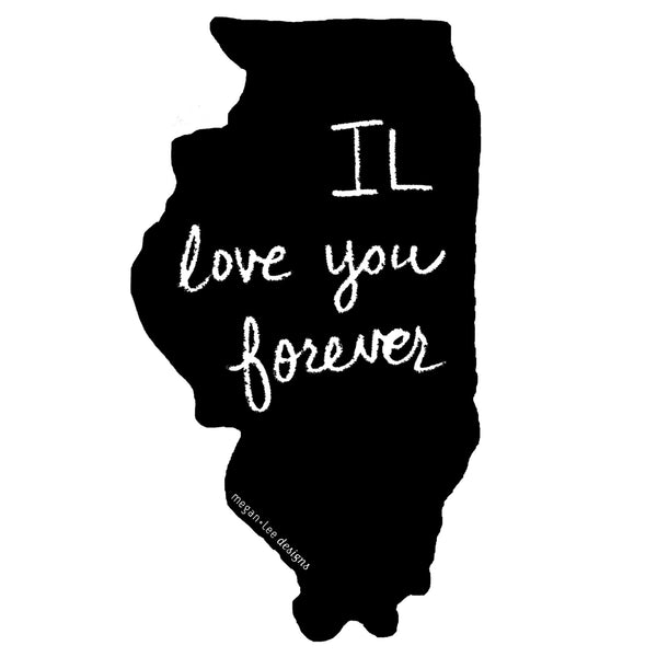 Illinois : IL love you forever women racerback tri-blend tank, Women's Apparel - Megan Lee Designs