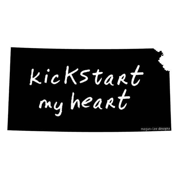 Kansas : kicKStart my heart unisex tri-blend tee, Unisex Apparel - Megan Lee Designs