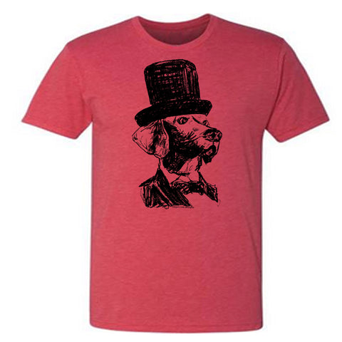 Lincoln Dog : unisex tri-blend tee - Megan Lee Designs