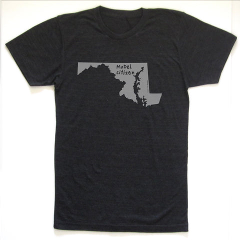 Maryland : MoDel citizen unisex tri-blend tee, Unisex Apparel - Megan Lee Designs