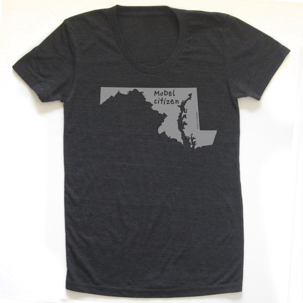 Maryland : MoDel citizen women tri-blend tee, Women's Apparel - Megan Lee Designs