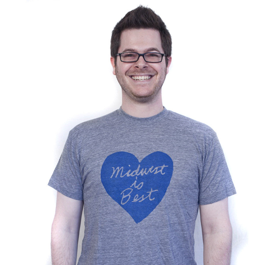 Midwest is Best : unisex tri-blend tee