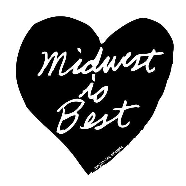 Midwest is Best : women v-neck blend T - Megan Lee Designs