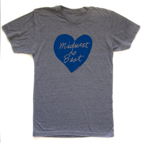 Midwest is Best : unisex tri-blend tee, Unisex Apparel - Megan Lee Designs