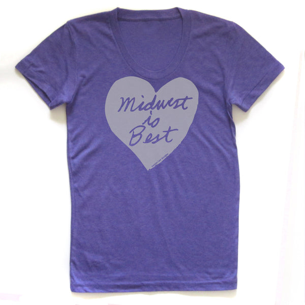 Midwest is Best : women tri-blend tee, Women's Apparel - Megan Lee Designs