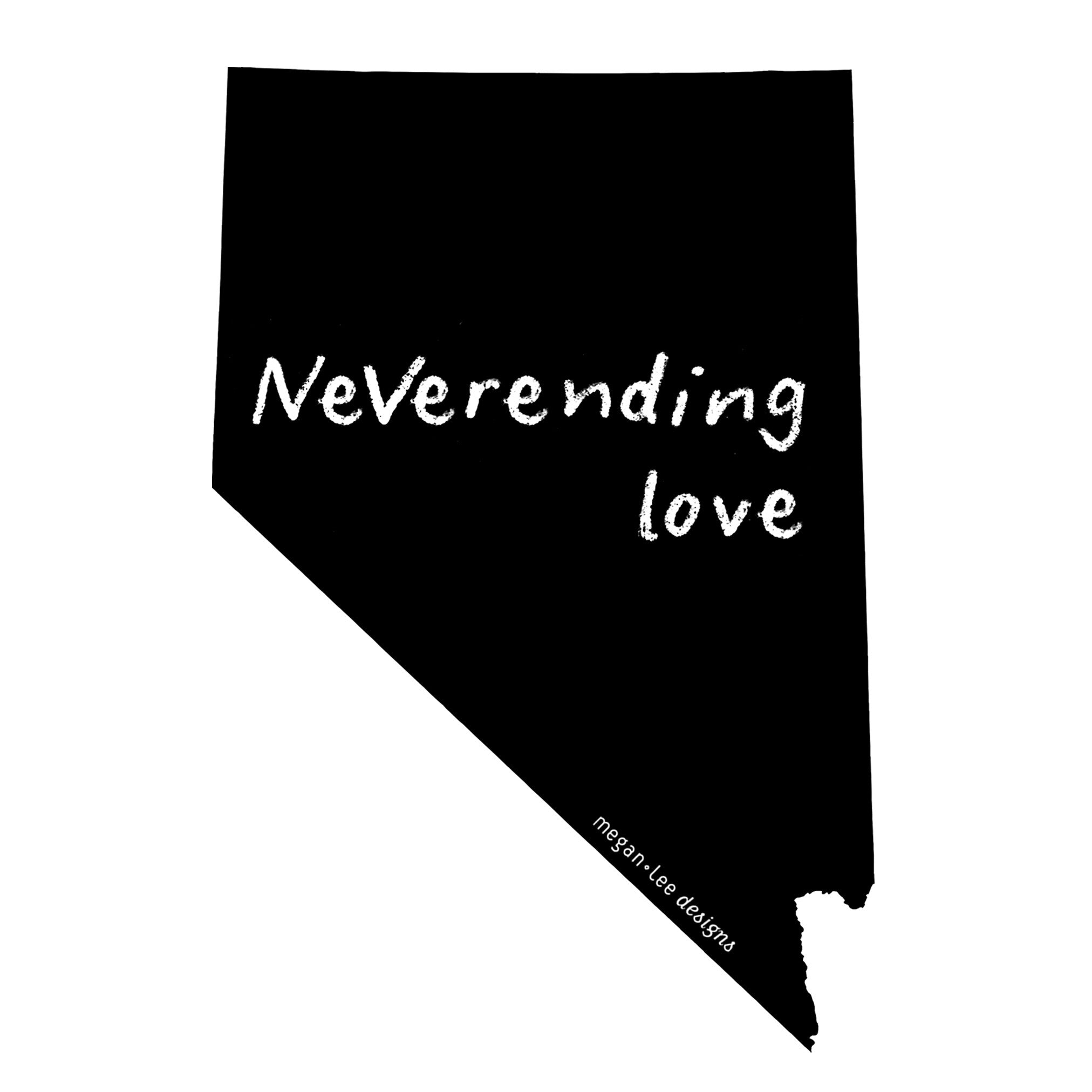 Nevada : NeVerending love bodysuit (white), Baby Apparel - Megan Lee Designs