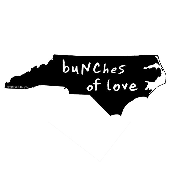 North Carolina : buNChes of love unisex tri-blend tee, Unisex Apparel - Megan Lee Designs