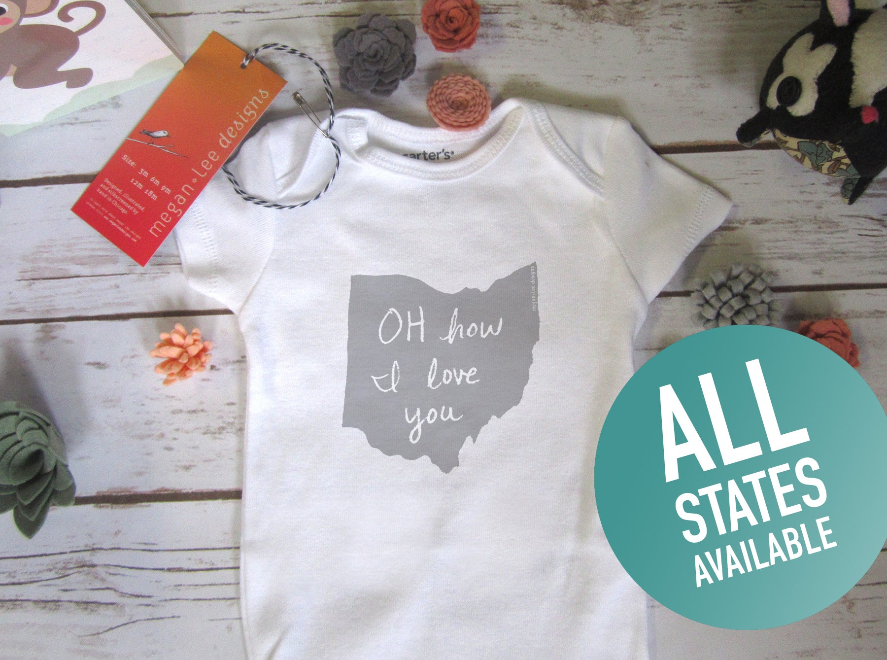 State of Mind : Baby Onesie (White)
