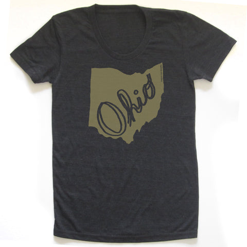 Ohio Script T-shirt : Women, Women's Apparel - Megan Lee Designs