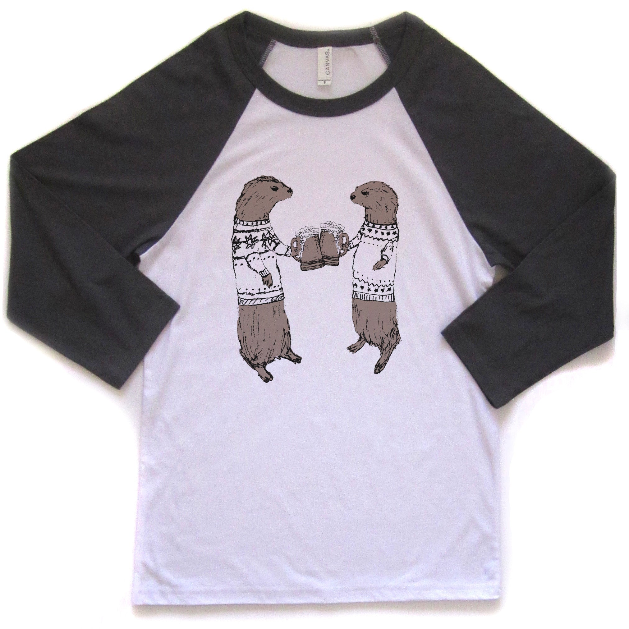 Otters : unisex baseball tee, Unisex Apparel - Megan Lee Designs