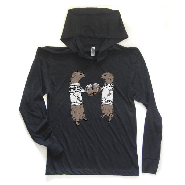Otters : unisex hoodie, Unisex Apparel - Megan Lee Designs