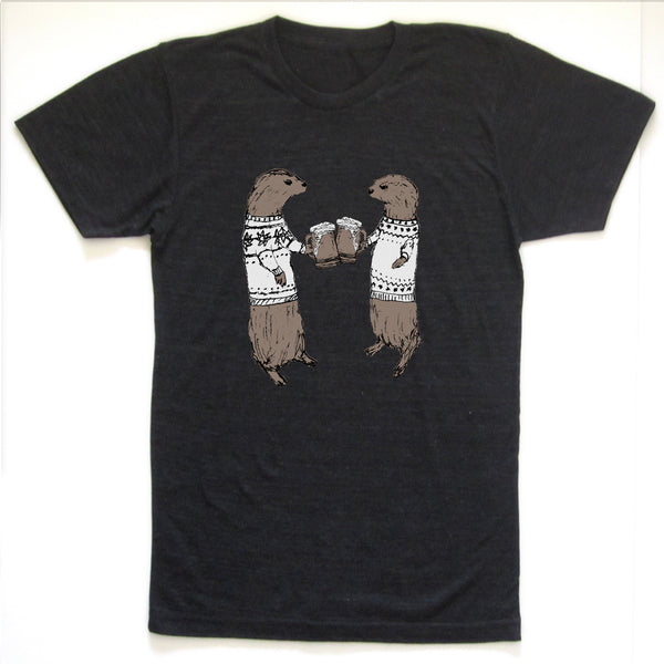 Otters : unisex tri-blend tee, Unisex Apparel - Megan Lee Designs
