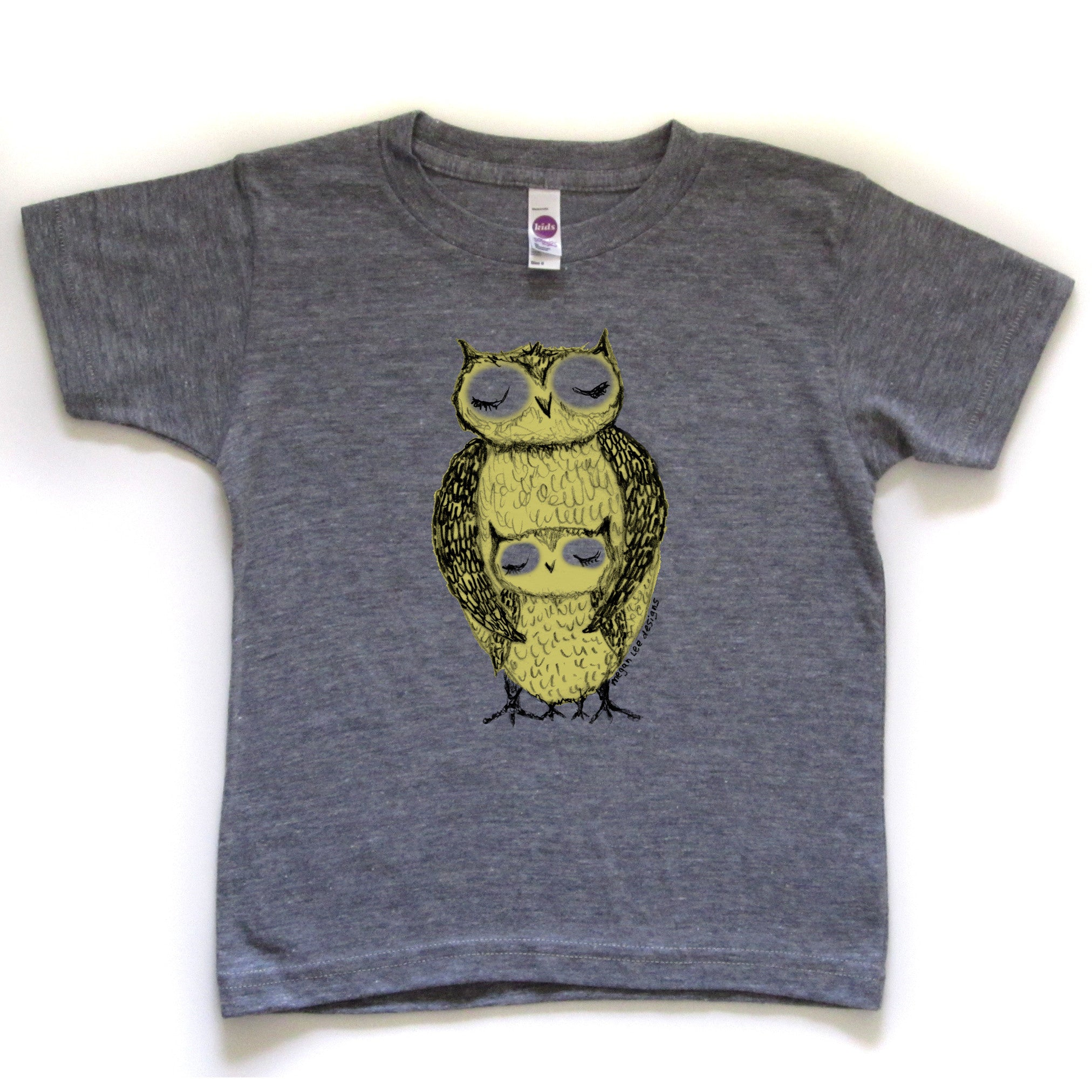 Owls : kids tri-blend tee - Megan Lee Designs