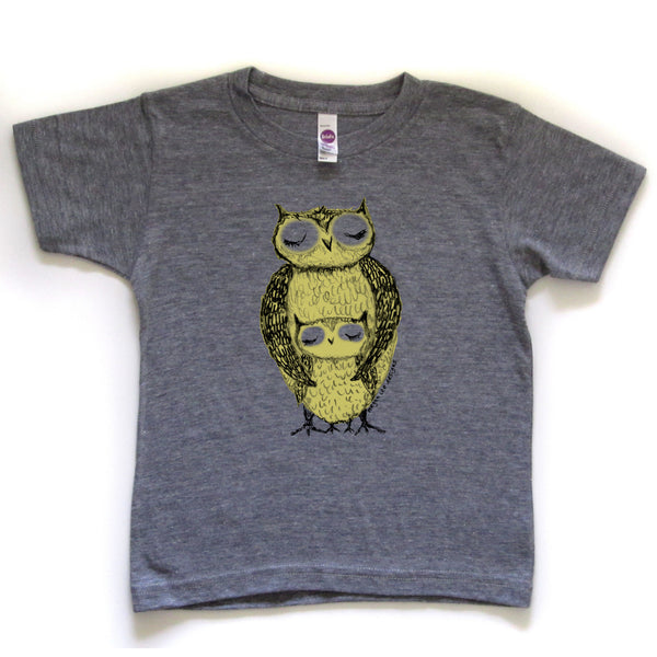 Owls : kids tri-blend tee, Kids' Apparel - Megan Lee Designs