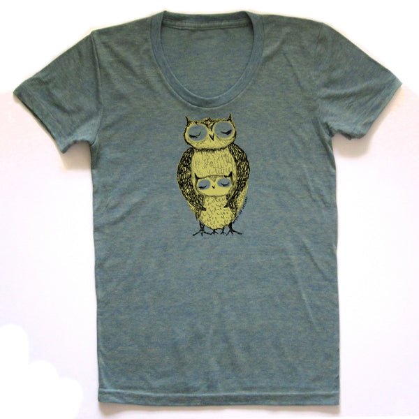 Owls : women tri-blend tee, Women's Apparel - Megan Lee Designs