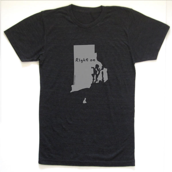 Rhode Island : RIght on unisex tri-blend tee, Unisex Apparel - Megan Lee Designs