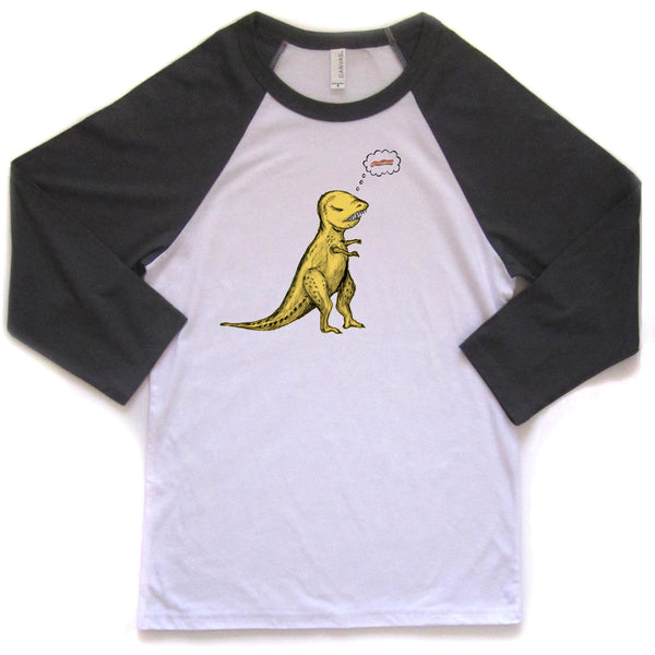 T-Rex : unisex baseball tee, Unisex Apparel - Megan Lee Designs