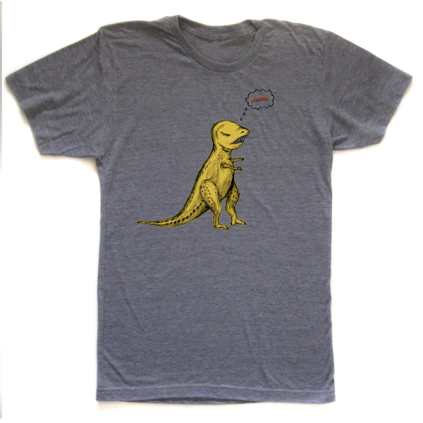 T-Rex : unisex tri-blend tee, Unisex Apparel - Megan Lee Designs