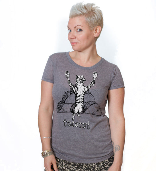 Tacocat : women tri-blend tee, Women's Apparel - Megan Lee Designs