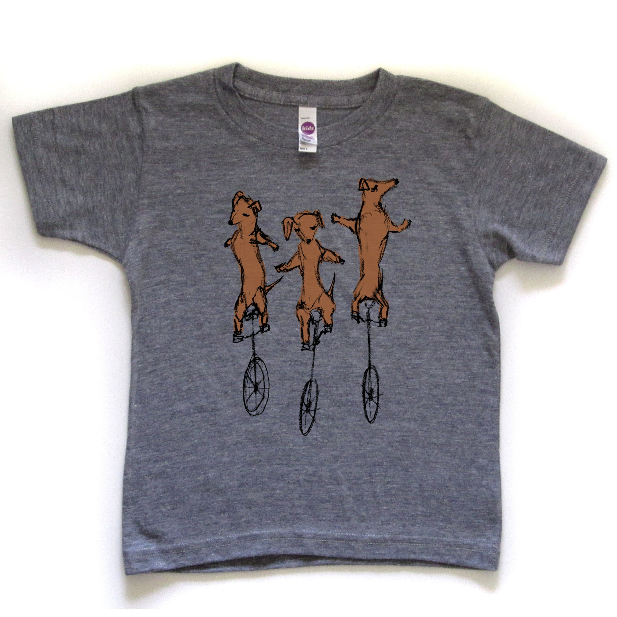 Uni-Dachshunds : kids tri-blend tee - Megan Lee Designs