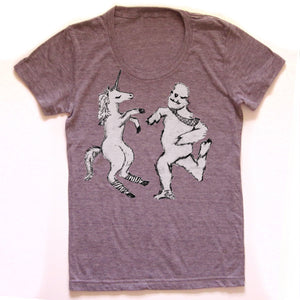 Uni & Yeti : women tri-blend tee, Women's Apparel - Megan Lee Designs