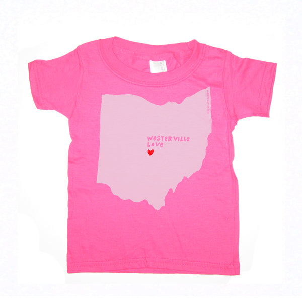 Westerville Love : kids tee - Megan Lee Designs