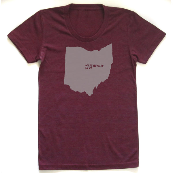 Westerville Love : Women Tri-blend T, Women's Apparel - Megan Lee Designs