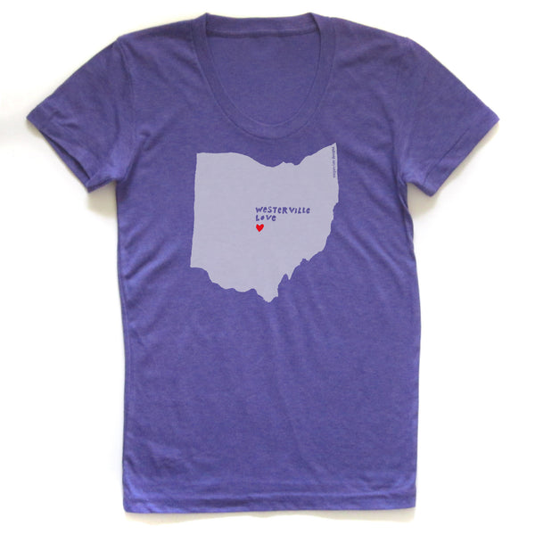 Westerville Love : Women Tri-blend T - Megan Lee Designs