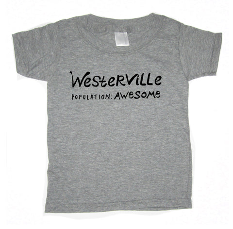 Westerville Population Awesome : kids tee