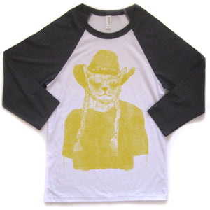 Willie Cat : unisex baseball tee, Unisex Apparel - Megan Lee Designs