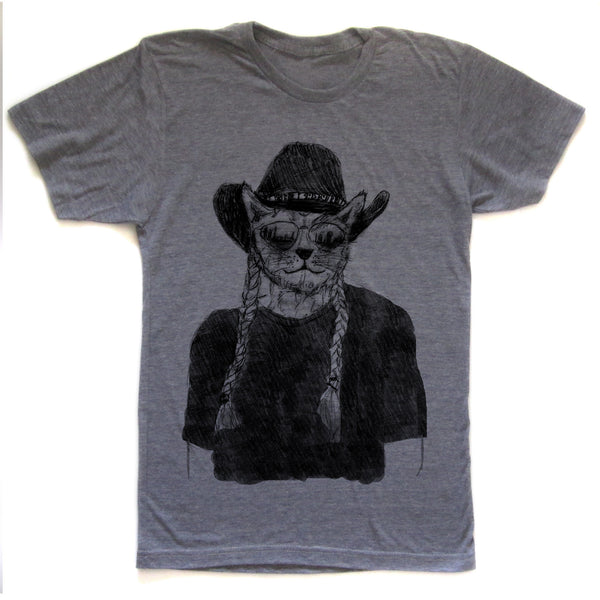 Willie Cat : unisex tri-blend tee, Unisex Apparel - Megan Lee Designs