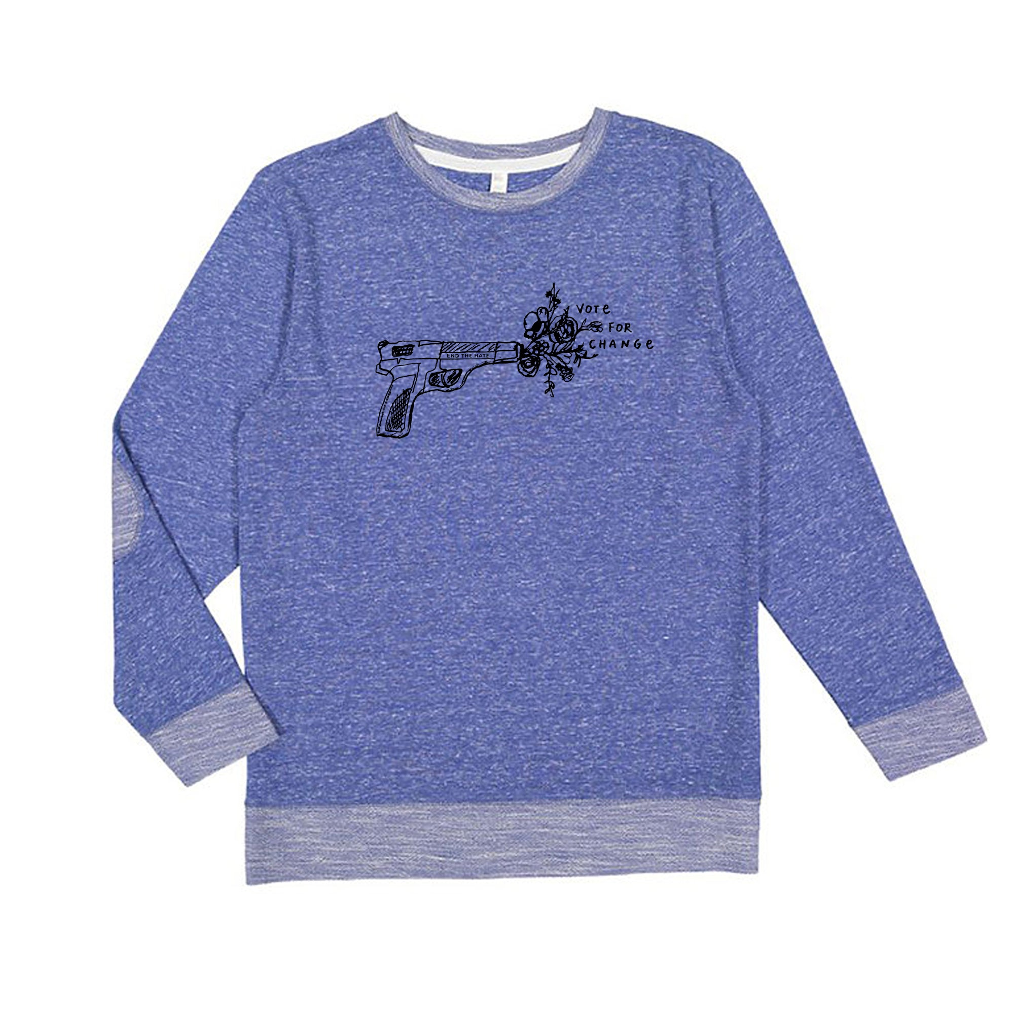 Vote for change : Unisex Melange Sweatshirt