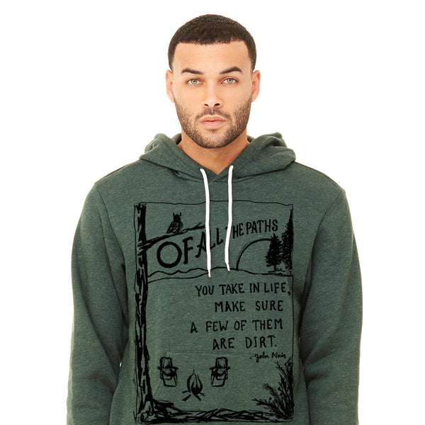 Of all the paths : unisex premium hoodie